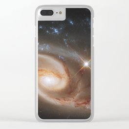 Pair of Galaxies Clear iPhone Case