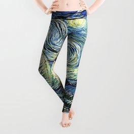 Starry Night Art Van Gogh Leggings