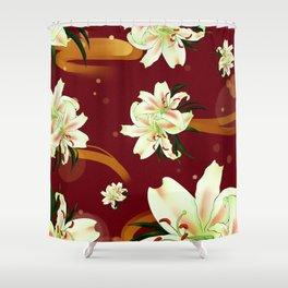 Water Lily Blossom Wonderland Shower Curtain