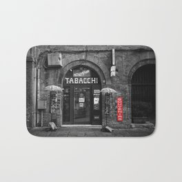 Souvenirs from Bologna Black and White Photography Street Bath Mat