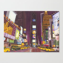 """""""Times Square at Night"""" Canvas Print"""