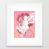 writer Framed Art Prints featuring AIR WRITER by Isa Ibaibarriaga