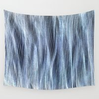 silver Wall Tapestries featuring Silver Veil by Puddingshades