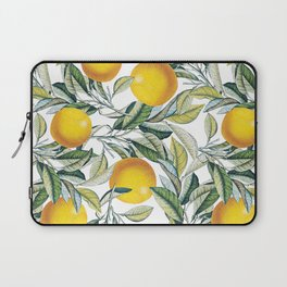 Lemon and Leaf Pattern VI Laptop Sleeve