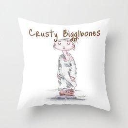 Crusty Bigglebones Throw Pillow