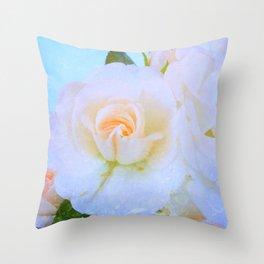 Light Roses Throw Pillow