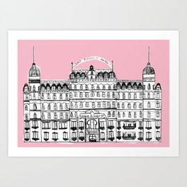 Budapest Hotel Art Print