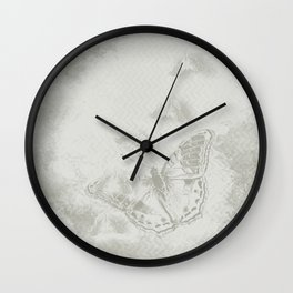delicate butterflies and textured chevron pattern Wall Clock
