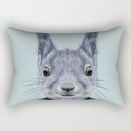baby squirrels chipmunks portrait  Rectangular Pillow