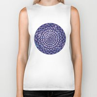 moon phases Biker Tanks featuring Moon Phases by Cina Catteau