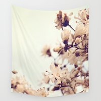 magnolia Wall Tapestries featuring Magnolia by Dena Brender Photography