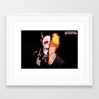 bleach Framed Art Prints featuring Bleach poster by Tremblax1