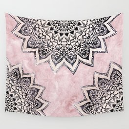 ROSE BOHO NIGHTS MANDALAS Wall Tapestry