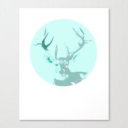 Graceful Deer Totem Portrait Canvas Print