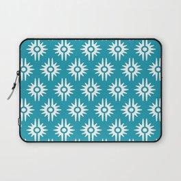 Mid Century Modern Bang Pattern 271 Turquoise Laptop Sleeve