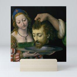 Salome with the Head of Saint John the Baptist - Andrea Solario Mini Art Print