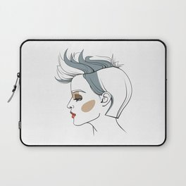 Woman with trendy haircut. Abstract face. Fashion illustration Laptop Sleeve