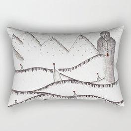 red dot Rectangular Pillow