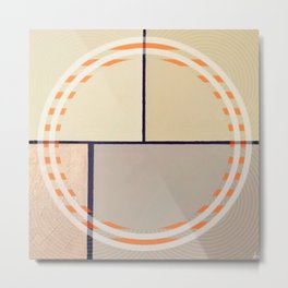 Toned Down - orange circle Metal Print