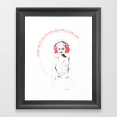 RocknRoll Boy Framed Art Print