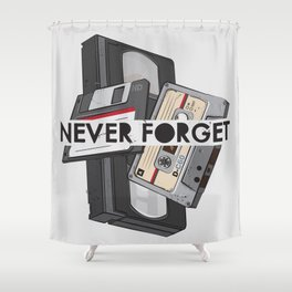 Never Forget - 1 Shower Curtain