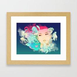 Fish Lady Framed Art Print