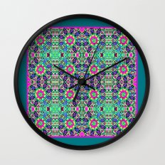 Autumn Roses Wall Clock