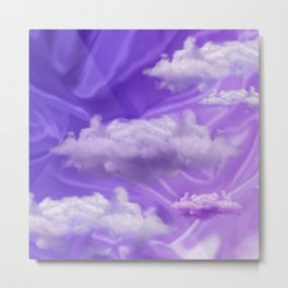"""Violet pastel sweet heaven and clouds"" Metal Print"