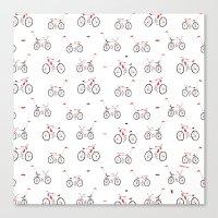 bikes Canvas Prints featuring bikes by Marcelo Badari