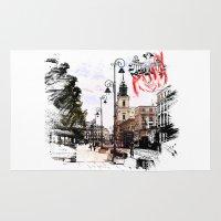 poland Area & Throw Rugs featuring Poland - Krawkowskie Przedmiescie, Warsaw by viva la revolucion