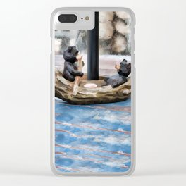 Two Bears in a Canoe Clear iPhone Case