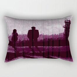 Watching the Refinery Rectangular Pillow