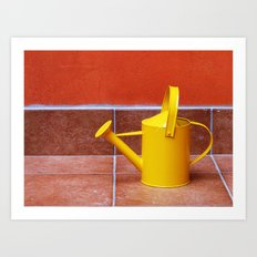 Teracotta Watering Can  Art Print