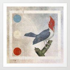 Blue White Red Art Print