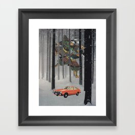Dreaming in The Red Car Framed Art Print