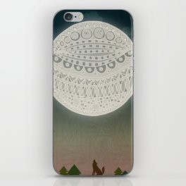 Light up the moon iPhone Skin