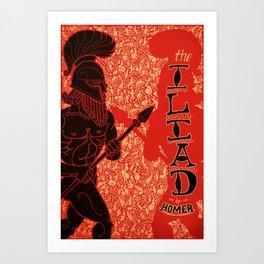 Homer's Iliad Art Print