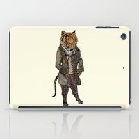 suits iPad Cases featuring Animals in Suits - Sumatran Tiger by Katadd