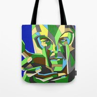 magneto Tote Bags featuring Magneto by Liam Brazier