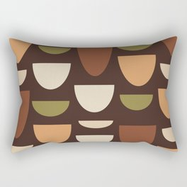 Brown & Orange Bowls Rectangular Pillow