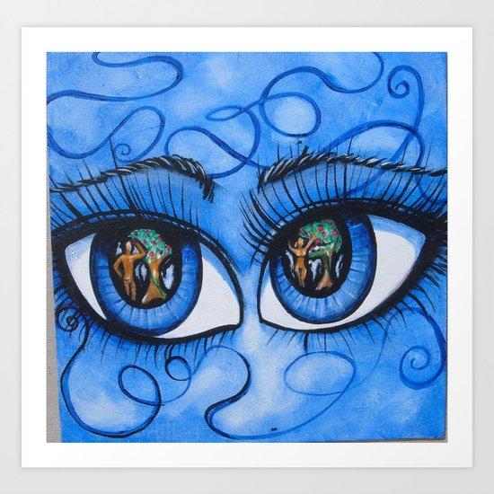 Lucifer Eyes Art Print