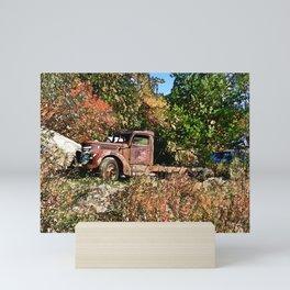 Old Trucker's Ride - Big Rig Truck Mini Art Print