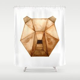 Geo Series - Bear Shower Curtain