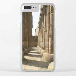 Temple of Luxor, no. 3 Clear iPhone Case