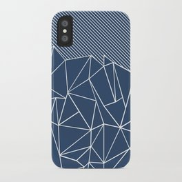 Ab Lines 45 Navy iPhone Case