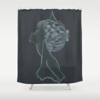 nurse Shower Curtains featuring Nurse by Zdenka Koskova