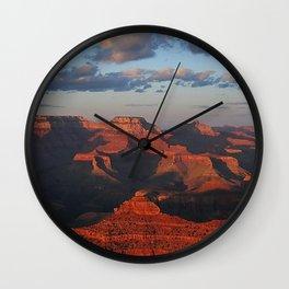 Grand Canyon Sunset Colors Wall Clock