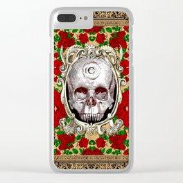 Infinitum - Macabre Gothic Skull Clear iPhone Case