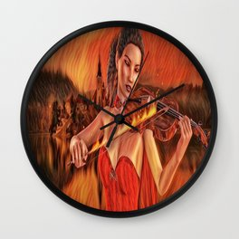 playing with fire Wall Clock