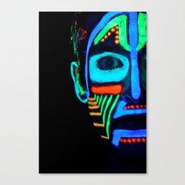 Colorful Neon Paint Under Blacklight Canvas Print